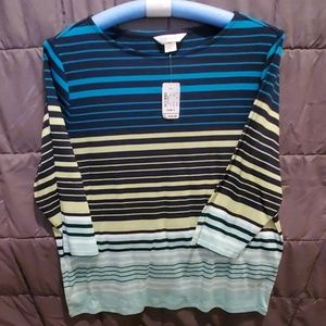Striped cotton tshirt